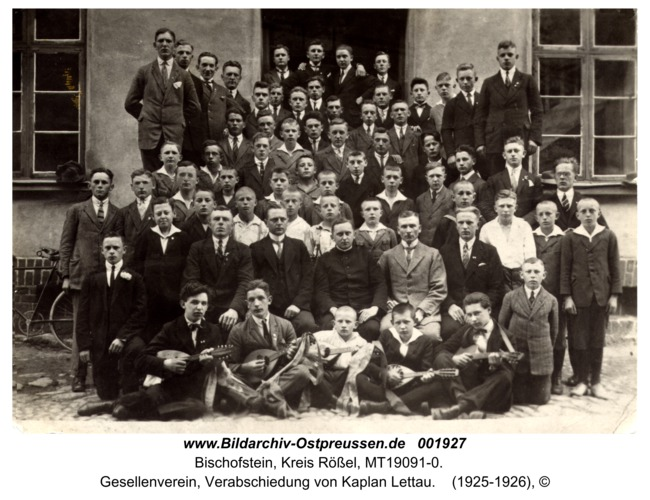 Bischofstein, Gesellenverein, Verabschiedung von Kaplan Lettau