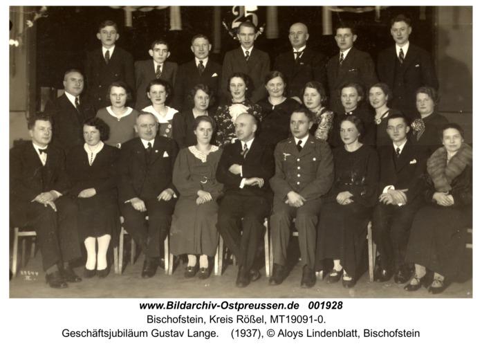 Bischofstein, Geschäftsjubiläum Gustav Lange