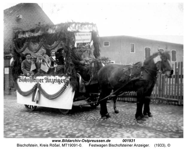 Bischofstein, Festwagen Bischofsteiner Anzeiger
