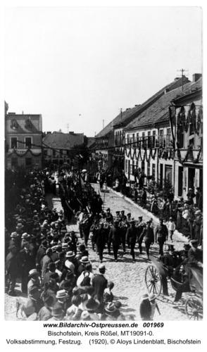 Bischofstein, Volksabstimmung, Festzug