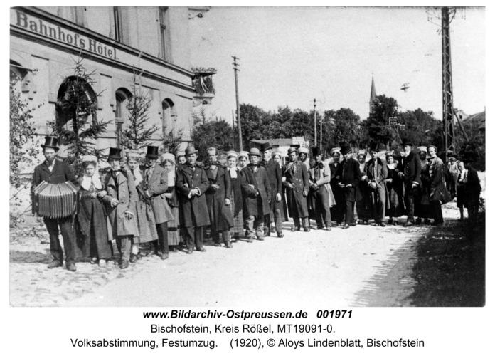 Bischofstein, Volksabstimmung, Festumzug