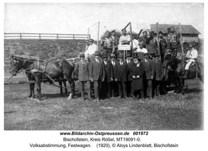 Bischofstein, Volksabstimmung, Festwagen