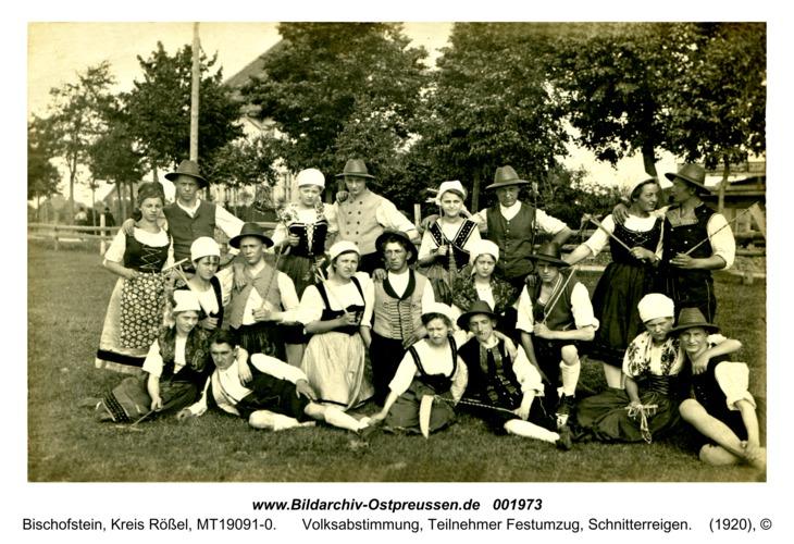 Bischofstein, Volksabstimmung, Teilnehmer Festumzug, Schnitterreigen