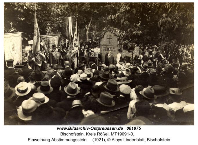 Bischofstein, Einweihung Abstimmungsstein