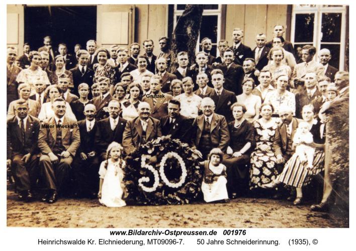 Heinrichswalde, 50 Jahre Schneiderinnung