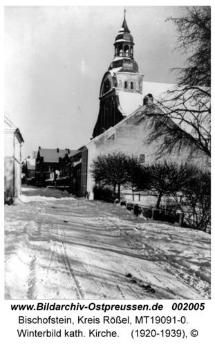 Bischofstein, Winterbild kath. Kirche