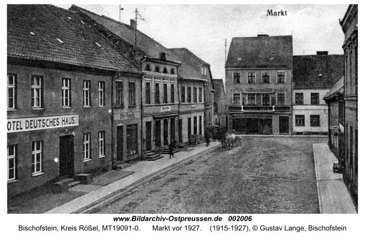 Bischofstein, Markt vor 1927