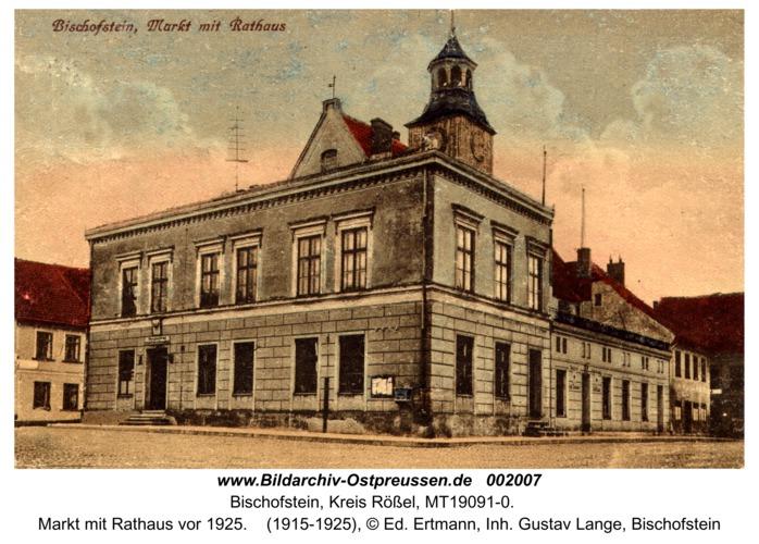 Bischofstein, Markt mit Rathaus vor 1925