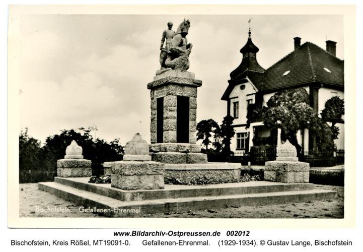 Bischofstein, Gefallenen-Ehrenmal