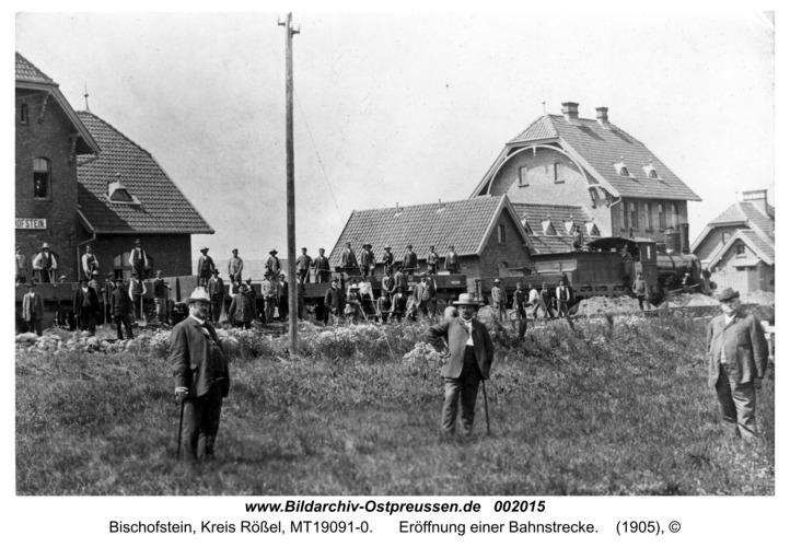 Bischofstein, Eröffnung einer Bahnstrecke