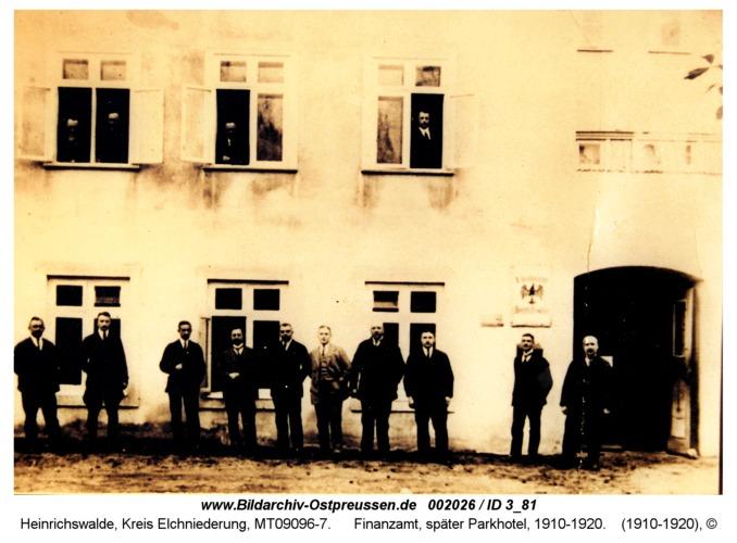 Heinrichswalde, Finanzamt, später Parkhotel, 1910-1920