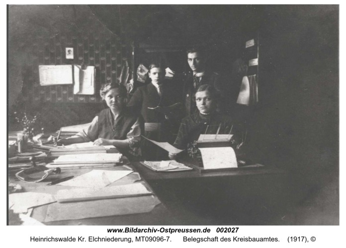 Heinrichswalde, Belegschaft des Kreisbauamtes