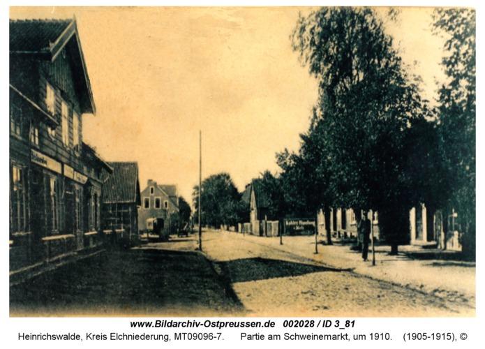 Heinrichswalde, Partie am Schweinemarkt, um 1910