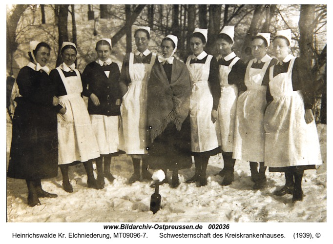 Heinrichswalde, Schwesternschaft des Kreiskrankenhauses