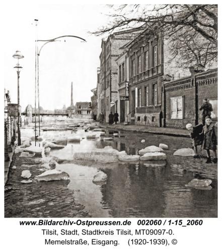 Tilsit, Memelstraße, Eisgang