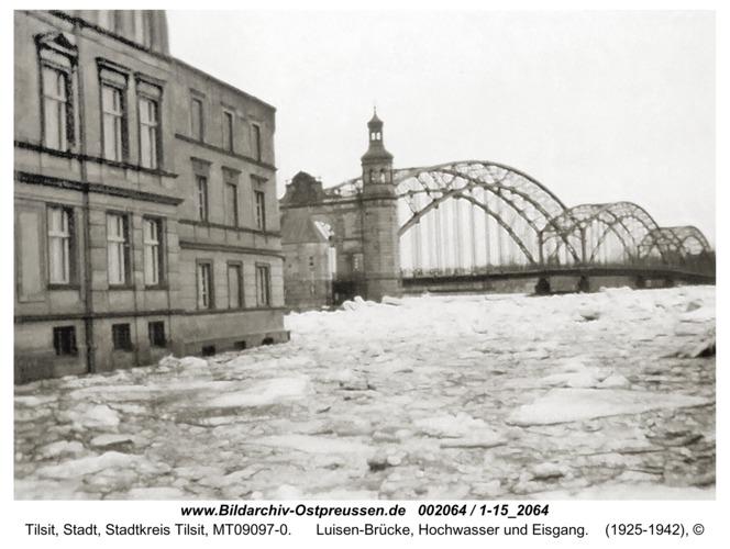 Tilsit, Luisen-Brücke, Hochwasser und Eisgang