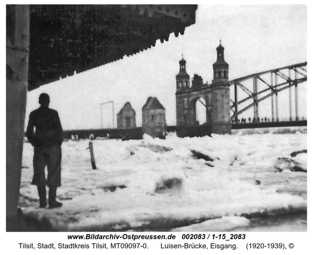Tilsit, Luisen-Brücke, Eisgang