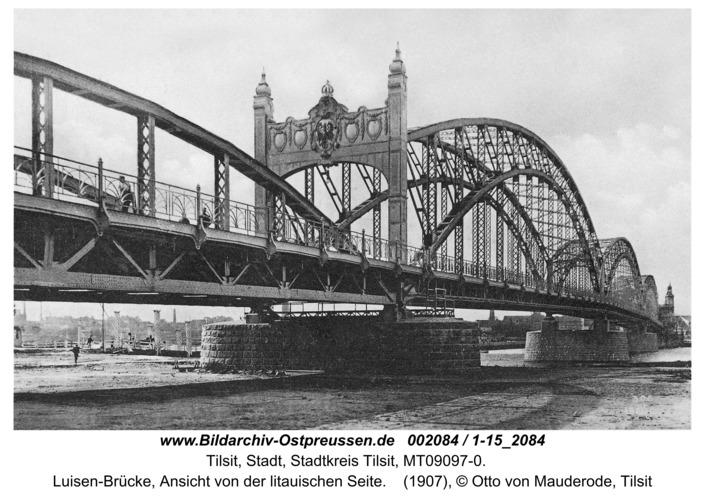 Tilsit, Luisen-Brücke, Ansicht von der litauischen Seite