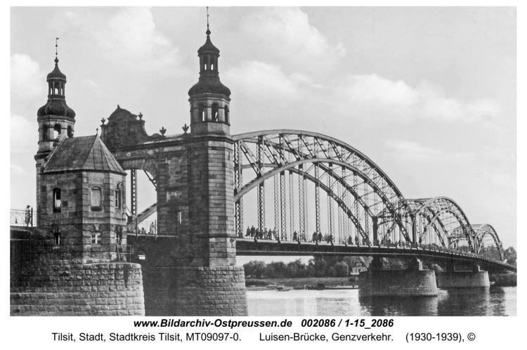Tilsit, Luisen-Brücke, Genzverkehr
