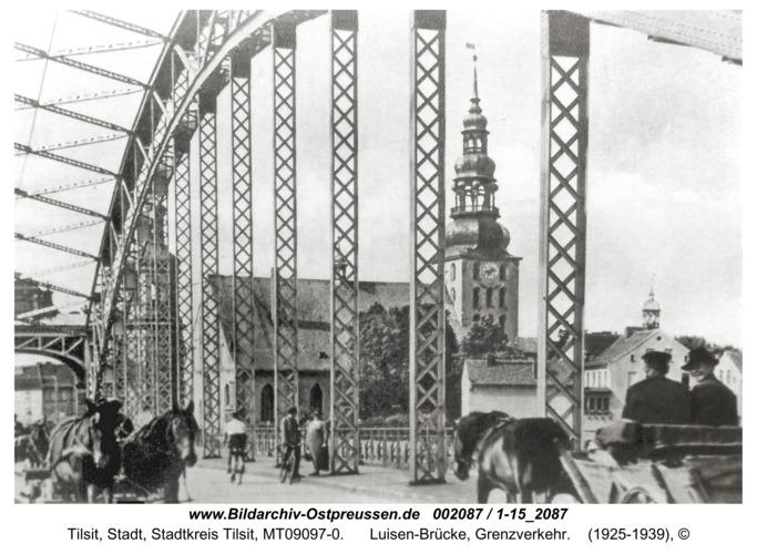 Tilsit, Luisen-Brücke, Grenzverkehr