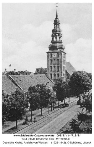 Tilsit, Deutsche Kirche, Ansicht von Westen