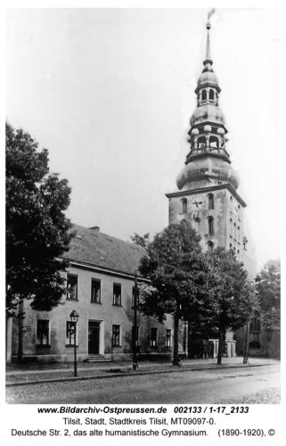 Tilsit, Deutsche Str. 2, das alte humanistische Gymnasium