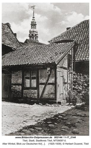 Tilsit, Alter Winkel, Blick zur Deutschen Kirche