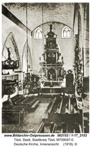 Tilsit, Deutsche Kirche, Innenansicht