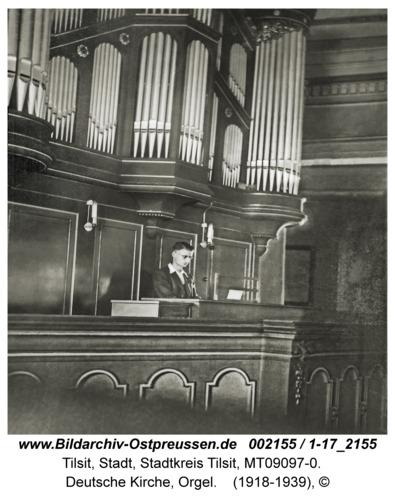 Tilsit, Deutsche Kirche, Orgel