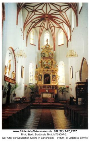 Tilsit, Der Altar der Deutschen Kirche in Bartenstein
