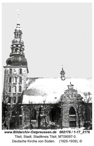 Tilsit, Deutsche Kirche von Süden