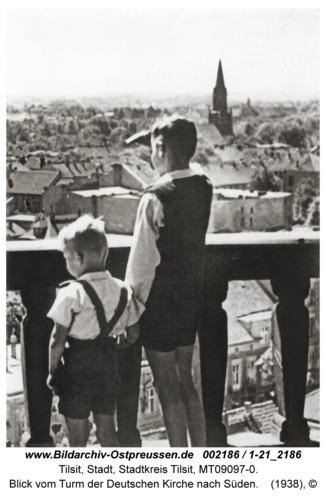 Tilsit, Blick vom Turm der Deutschen Kirche nach Süden