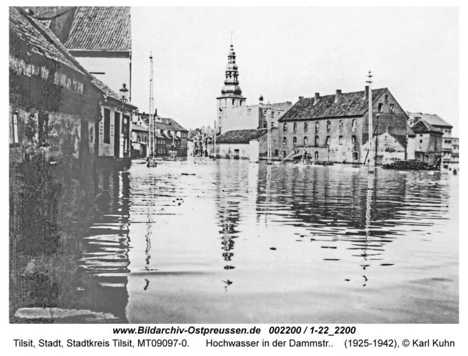 Tilsit, Hochwasser in der Dammstr.