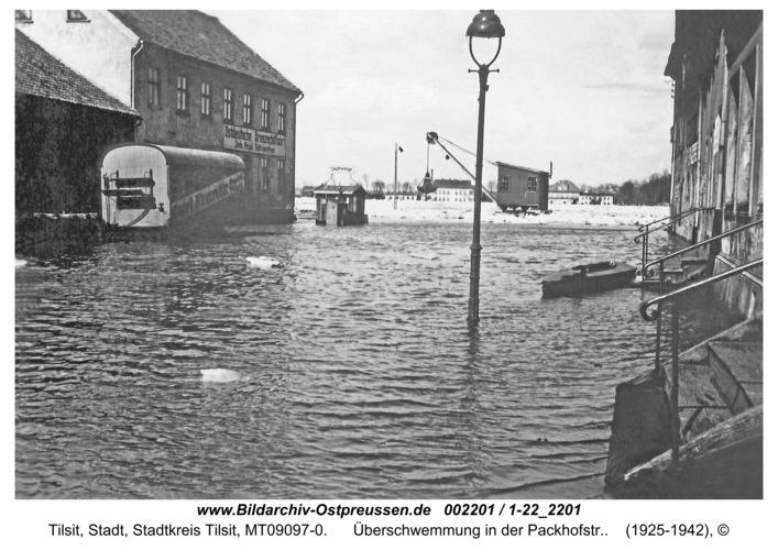 Tilsit, Überschwemmung in der Packhofstr.