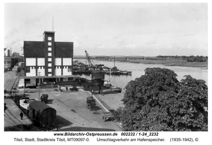 Tilsit, Umschlagverkehr am Hafenspeicher