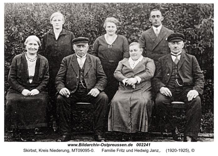 Skirbst, Familie Fritz und Hedwig Janz,