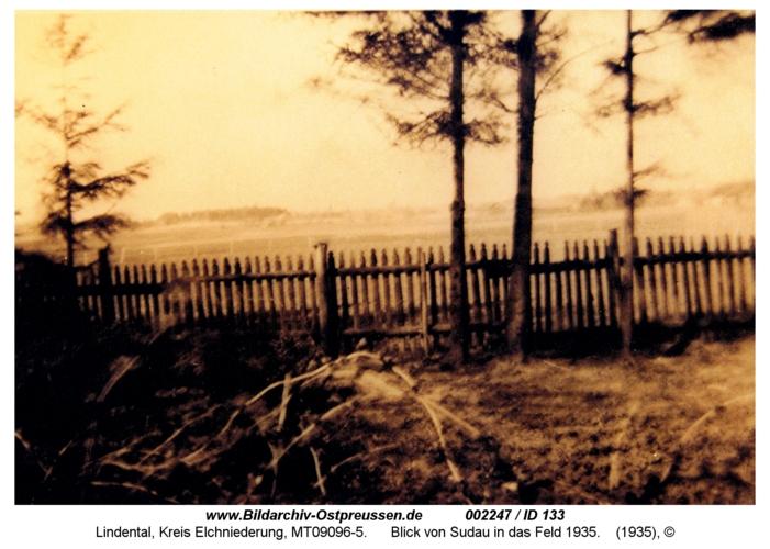 Lindental, Blick von Sudau in das Feld 1935