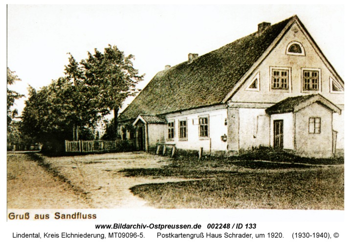 Lindental, Postkartengruß Haus Schrader, um 1920
