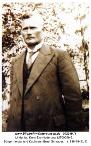 Lindental, Bürgermeister und Kaufmann Ernst Schrader