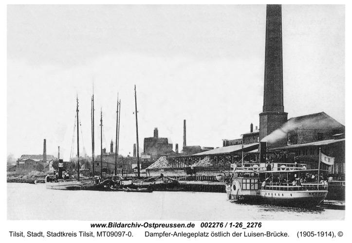 Tilsit, Dampfer-Anlegeplatz östlich der Luisen-Brücke