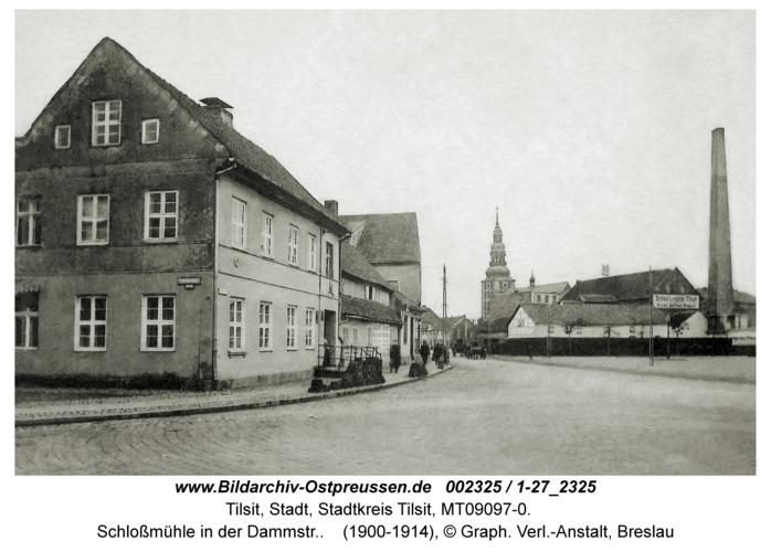 Tilsit, Schloßmühle in der Dammstr.