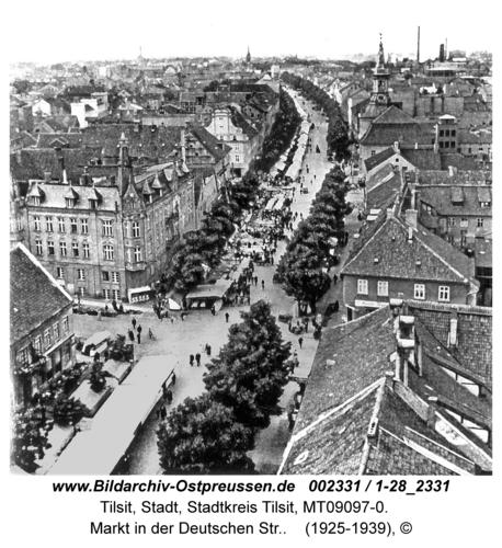 Tilsit, Markt in der Deutschen Str.