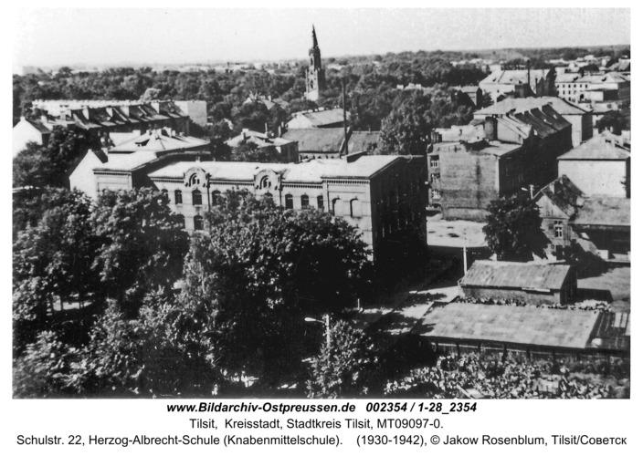 Tilsit, Schulstr. 22, Herzog-Albrecht-Schule (Knabenmittelschule)