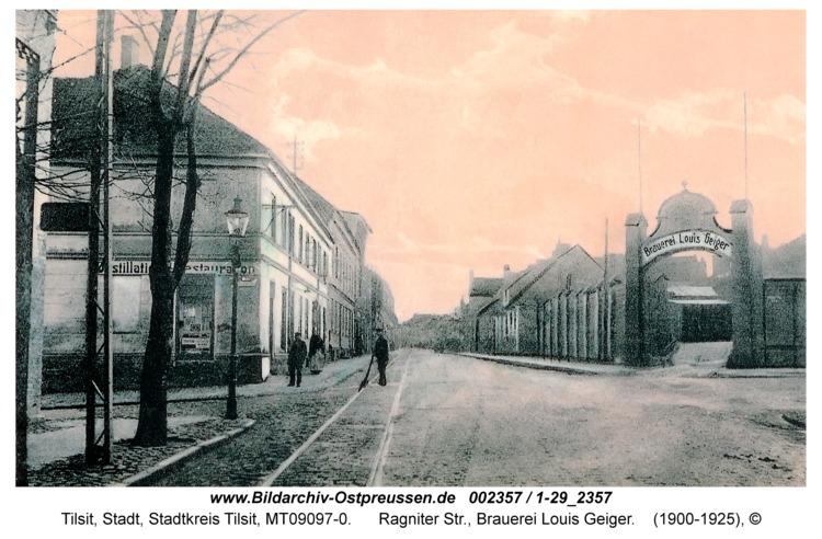 Tilsit, Ragniter Str., Brauerei Louis Geiger