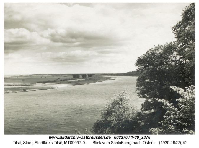 Tilsit, Blick vom Schloßberg nach Osten