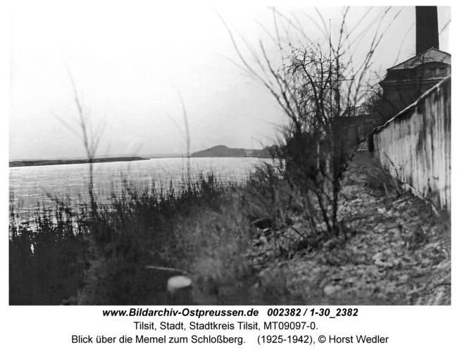 Tilsit, Blick über die Memel zum Schlossberg