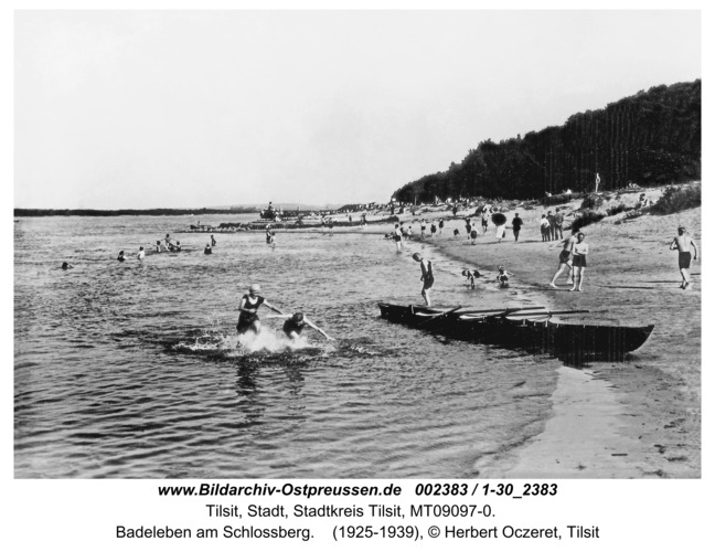 Tilsit, Badeleben am Schlossberg