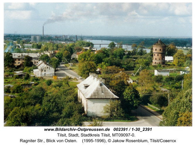Tilsit, Ragniter Str., Blick von Osten