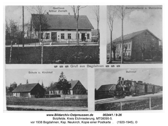 Bolzfelde, vor 1938 Bogdahnen, Ksp. Neukirch, Kopie einer Postkarte