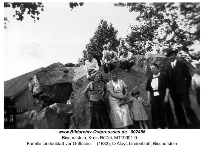 Bischofstein, Familie Lindenblatt vor Griffstein